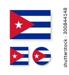set of vector icons with cuba... | Shutterstock .eps vector #300844148