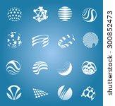 abstract white design set of... | Shutterstock .eps vector #300852473