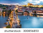 Panorama Of Prague With Red...