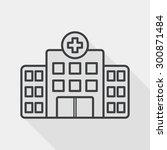 building hospital flat icon... | Shutterstock .eps vector #300871484