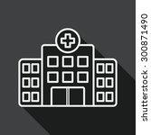 building hospital flat icon... | Shutterstock .eps vector #300871490