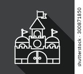 building castle flat icon with... | Shutterstock .eps vector #300871850