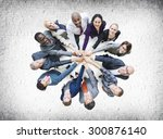 business people togetherness... | Shutterstock . vector #300876140