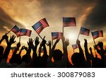 group of people waving armenian ... | Shutterstock . vector #300879083