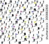 communication people diverse... | Shutterstock . vector #300882800