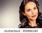 close up portrait of young... | Shutterstock . vector #300886184