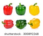 Red Green Yellow Pepper On...