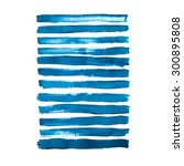blue brush strokes collection | Shutterstock . vector #300895808