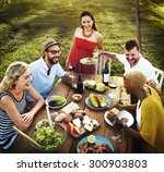 diverse people party... | Shutterstock . vector #300903803