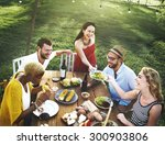 diverse people party... | Shutterstock . vector #300903806