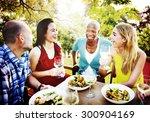 friends friendship outdoor... | Shutterstock . vector #300904169