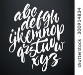 vector handwritten brush script....