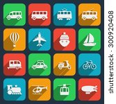 transport icons set. taxi and... | Shutterstock . vector #300920408