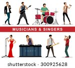 detailed colorful graphic set... | Shutterstock .eps vector #300925628
