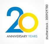 20 years old celebrating... | Shutterstock .eps vector #300929780