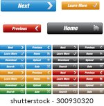 web buttons with various color  ... | Shutterstock .eps vector #300930320