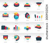 graph design 3d info graphic... | Shutterstock .eps vector #300932024