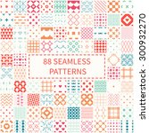 mega set of 88 geometric... | Shutterstock .eps vector #300932270