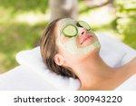attractive woman having...   Shutterstock . vector #300943220