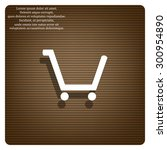 put in shopping cart. icon.... | Shutterstock .eps vector #300954890