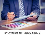 businessman working on his... | Shutterstock . vector #300955079