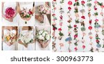 collage of photos from the...   Shutterstock . vector #300963773