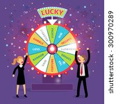 financial wheel of fortune.... | Shutterstock . vector #300970289