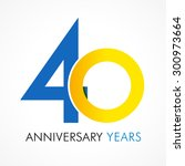 40 years old celebrating... | Shutterstock .eps vector #300973664