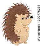 cute hedgehog.cartoon vector. | Shutterstock .eps vector #300976289