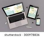 3d render of car sharing... | Shutterstock . vector #300978836