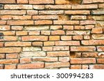 old damaged brick wall... | Shutterstock . vector #300994283