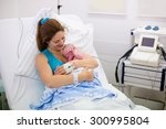 mother giving birth to a baby.... | Shutterstock . vector #300995804