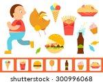 vector illustration of a fat... | Shutterstock .eps vector #300996068
