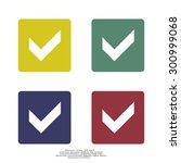 tick icon  vector illustration. ...   Shutterstock .eps vector #300999068