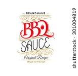 vintage bbq sauce logo   Shutterstock .eps vector #301004819