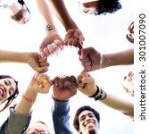 friends friendship fist bump... | Shutterstock . vector #301007090