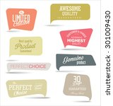 modern badges collection | Shutterstock .eps vector #301009430