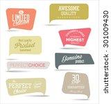 modern badges collection | Shutterstock .eps vector #301009430