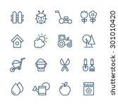 garden icons set  | Shutterstock .eps vector #301010420