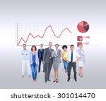 business team against grey...   Shutterstock . vector #301014470