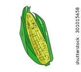 fruit corn raster version | Shutterstock . vector #301015658