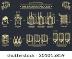 vector beer infographics with... | Shutterstock .eps vector #301015859