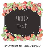 beautiful floral background.... | Shutterstock .eps vector #301018430