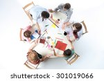 top view of business team ... | Shutterstock . vector #301019066