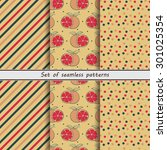 set of seamless patterns ...