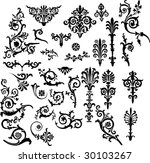 ornament elements collection... | Shutterstock .eps vector #30103267