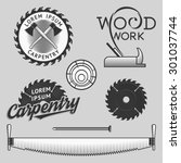 vintage wood works and... | Shutterstock .eps vector #301037744