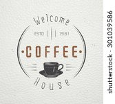 coffee shop and cafe. the food... | Shutterstock .eps vector #301039586