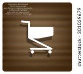 shopping basket. icon. vector...   Shutterstock .eps vector #301039679
