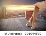 legs and heels  | Shutterstock . vector #301044530
